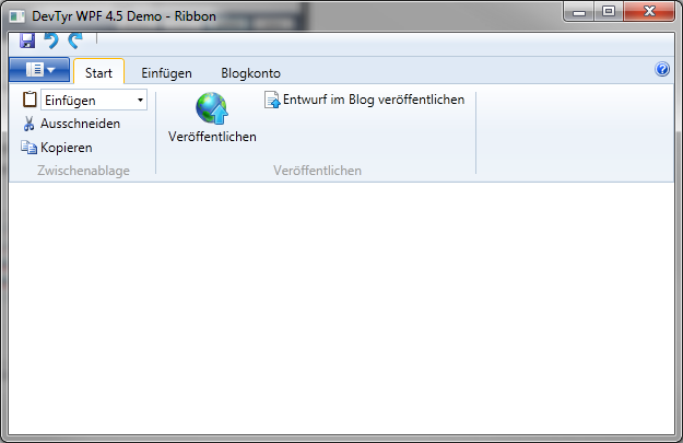WPF Ribbon Control