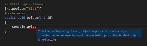 OmniSharp Codevervollständigung