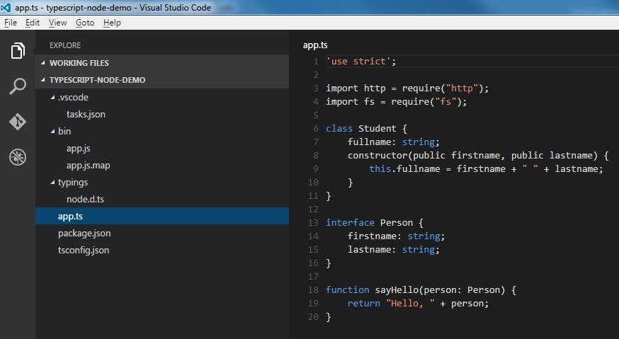 Visual Studio Code mit Node.js und TypeScript
