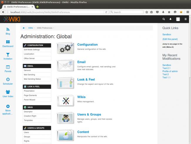 XWiki Administration