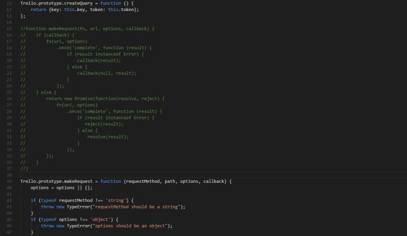 Auskommentierter Sourcecode
