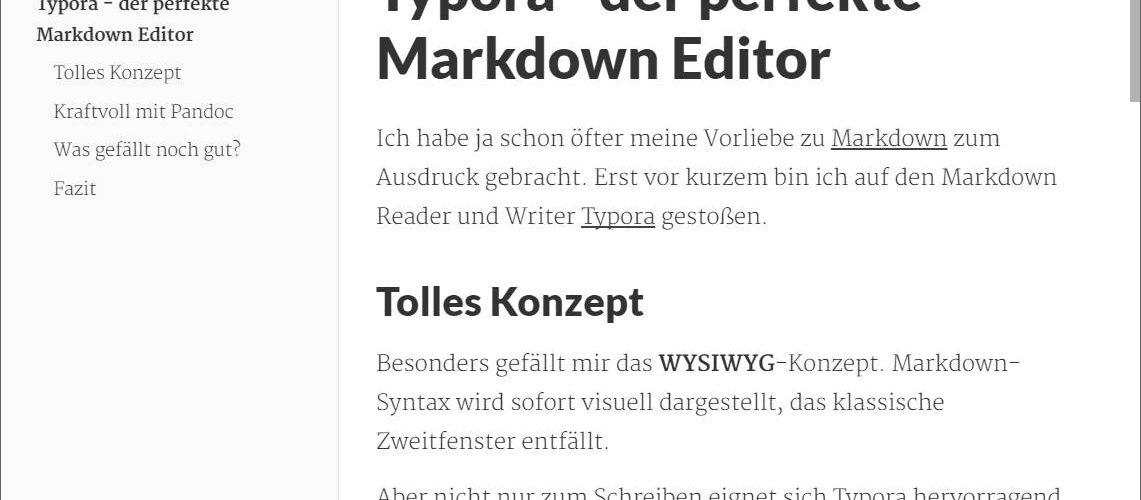 Typora Markdown Editor