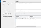 .NET Core ASPNETCORE_ENVIRONMENT