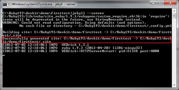 Running Jekyll Server