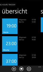 Working Hours Tracker for WP7 - Home screen - Project summary