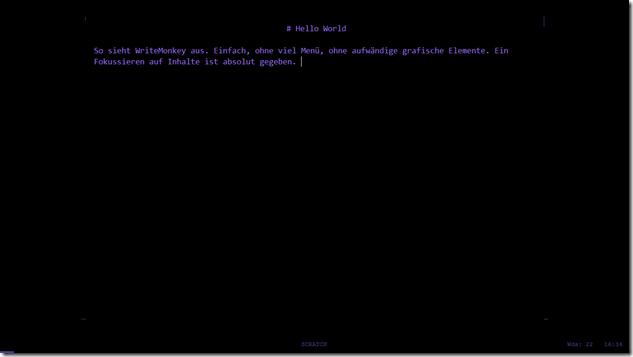 Screenshot WriteMonkey