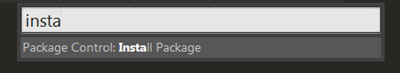 Sublime Text Package Control: Install Package