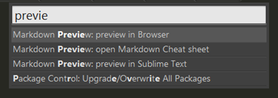 Sublime Text Markdown Preview verwenden