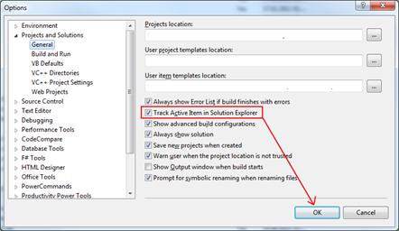 Visual Studio 2010 Optionen