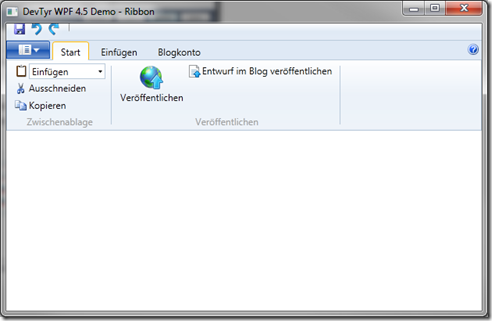 Ribbon Steuerelelement mit Standard Windows Klasse