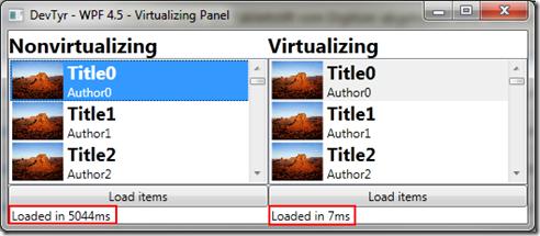 Windows Presentation Foundation 4.5 - VirtualizingPanel