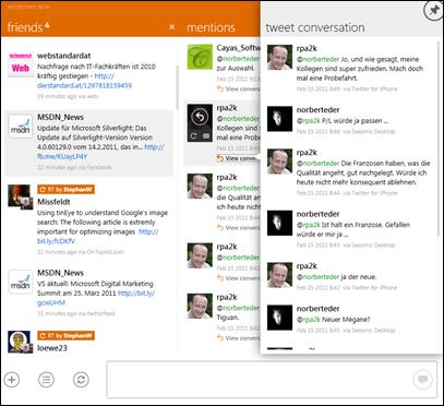 MetroTwit Conversation Screenshot